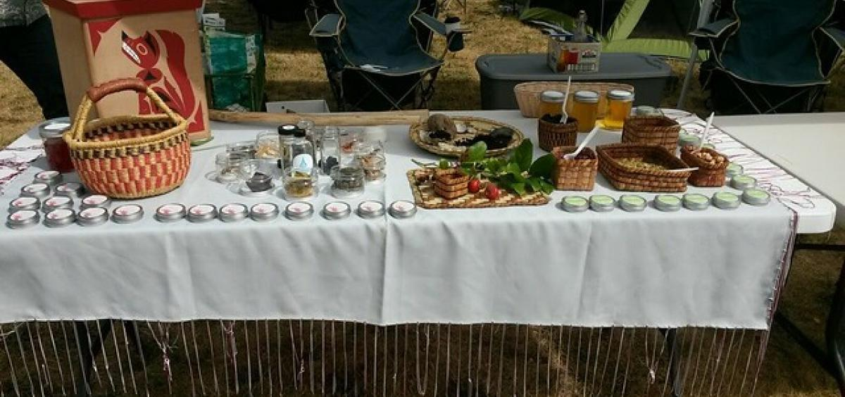 photo of traditional foods of the Swinomish tribes of Washington